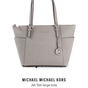 Michael Kors Jet Set Tote Handbag in grey